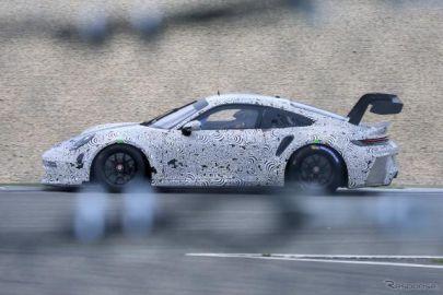 ポルシェ『911 GT3 R』新型、ニュル王者復活へ初のテストラン!