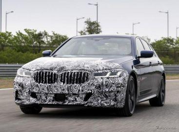 BMW 5シリーズ 改良新型、プロトタイプの画像 5月27日発表