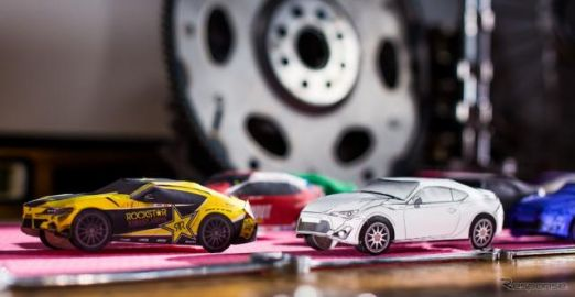 トヨタ スープラ 新型、ドリフトするペーパークラフト