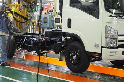 いすゞの工場稼働状況 KD拠点は6カ所で稼働停止中