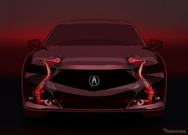 アキュラ TLX 新型のティザーイメージ《photo by Acura》