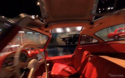 メルセデスベンツ博物館、館内をドローンで巡る…ガルウィングの車内も飛行