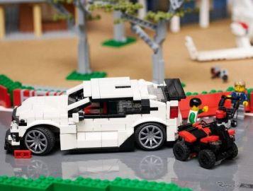 ホンダがレゴブロックでサーキットを製作…シビックタイプR も走る