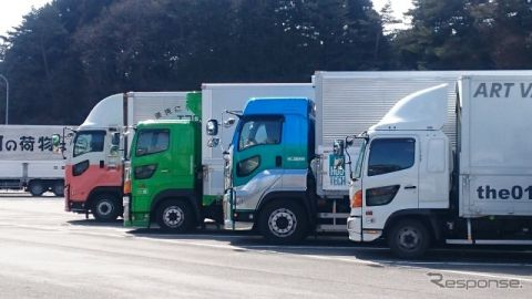 トラックカーナビ、地点情報共有機能を追加…大型車が駐車できる休憩施設をみんなで共有