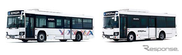 いすゞ、路線バス エルガ/エルガミオを改良…全車型で平成27年度重量車燃費基準を達成