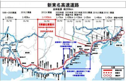 新東名で6車線運用、長泉沼津IC-藤枝岡部IC…ダブル連結トラック走行など 7月16日より