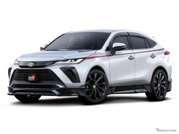 【トヨタ ハリアー 新型】GRパーツを設定…「黒」でさらにスポーティ