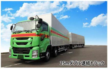 NEXCO中日本、SA・PAのダブル連結トラック用駐車スペースに予約システム導入へ