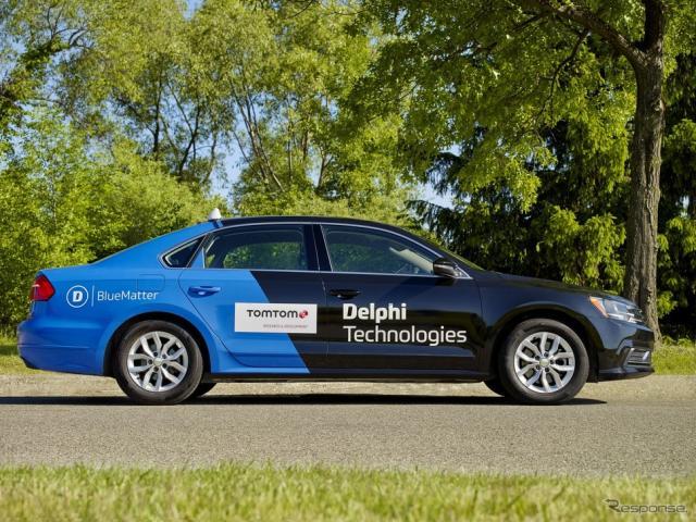 トムトムのADASマップを組み込んだデルファイ・テクノロジーのテスト車両《photo by Delphi Technologies》