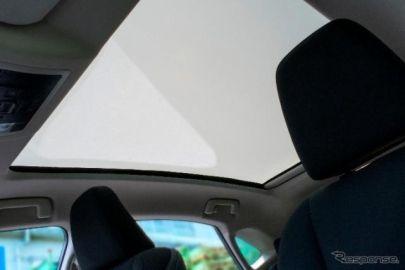 【トヨタ ハリアー 新型】AGCの世界初の調光ガラス、パノラマルーフに採用