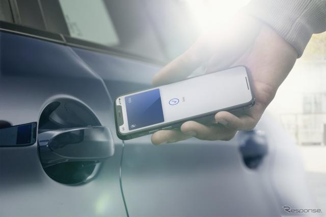 iPhone用のBMWデジタルキー《photo by BMW》