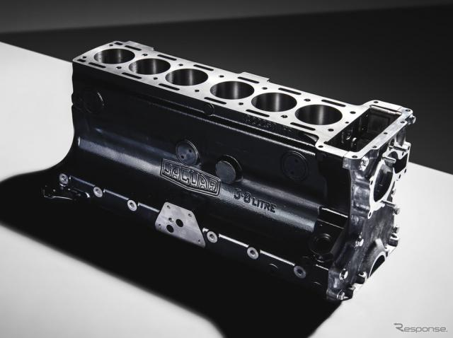 ジャガーが約50年ぶりに生産する「XK型」3.8リットル直6エンジンブロック《photo by Jaguar Cars》