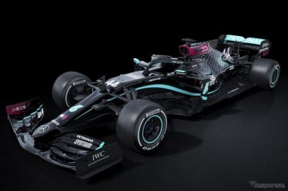 【F1】王者メルセデス、黒が基調の新カラーリングを公開…差別の打破とさらなる多様性実現への決意表明