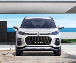 スズキの新型SUV『アクロス』、トヨタ RAV4 PHV ベースのOEM…欧州発表