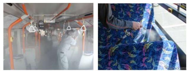 東急バス、コロナ対策で全車両に抗ウイルス・抗菌施工 東日本初