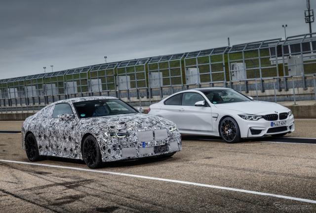 BMW M4クーペ 次期型のプロトタイプ《photo by BMW》