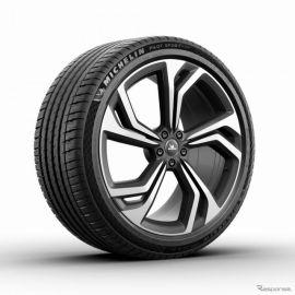 ミシュラン パイロットスポーツ4 SUV 発売へ、サイドウォールにチェッカーフラッグパターン採用