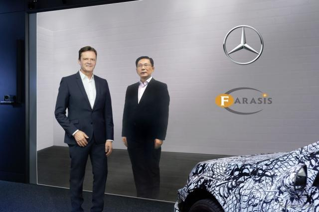 戦略的提携を締結することで合意したメルセデスベンツと中国のバッテリーメーカーのファラシス・エナジー社《photo by Mercedes-Benz》