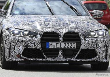 """BMW M4クーペ 新型に""""隠し玉""""モデルあり!? メガ・キドニーグリルも完全露出"""