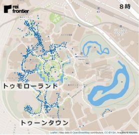再開の東京ディズニーランド、12時台にはスペースマウンテン前に人が集中…レイ・フロンティア調べ