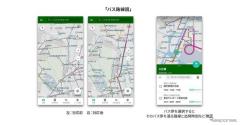バスNAVITIME、道路形状に沿った路線図表示に対応 まずは関東圏から