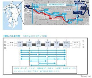 大分道・杷木-湯布院間が無料…令和2年7月豪雨被災の国道210号の代替