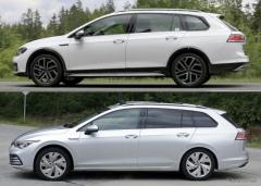 VW ゴルフオールトラック 新型、2020年内登場か…ヴァリアントと比較