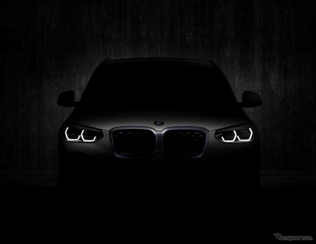 BMW iX3 のティザーイメージ《photo by BMW》