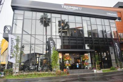 トライアンフ茅ヶ崎、国道1号沿いにグランドオープン…カフェも併設されライダーの憩いの場に 7月11日