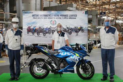 スズキ、インドで二輪車累計生産500万台 14年5か月で達成