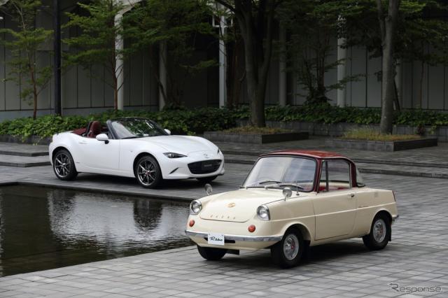 マツダ R360クーペ と ロードスター 100周年特別記念車《写真提供 マツダ》