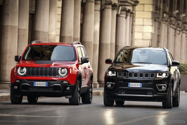 ジープ・レネゲード 4xe と コンパス 4xe《photo by Jeep》