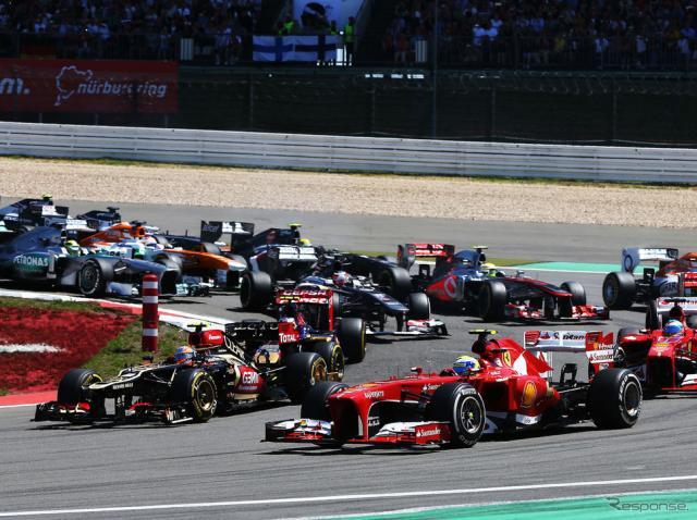 2013年F1ニュルブルクリンク戦の模様。《写真提供 Pirelli》