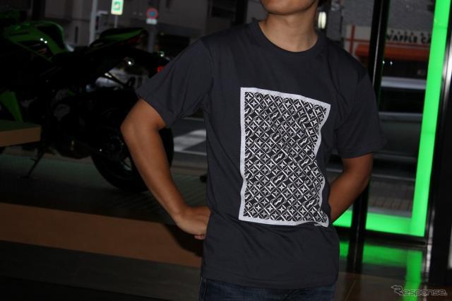 カワサキ デザインTシャツ(忍者)《写真提供 カワサキモータースジャパン》