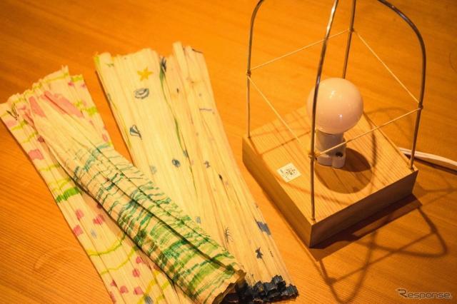 「吉野の手すき和紙」で作るランプ《写真提供 LEXUS NEW TAKUMI PROJECT PR事務局》
