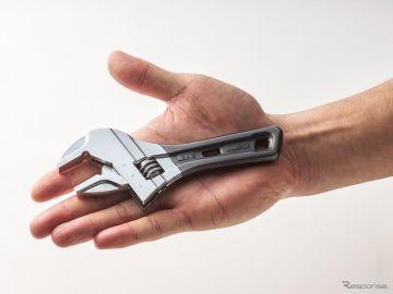 手のひらサイズのショートモンキレンチ…狭い場所での作業に KTCが発売