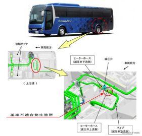三菱ふそう、大型観光バスをリコール ヒーターホース不具合でオーバーヒートのおそれ
