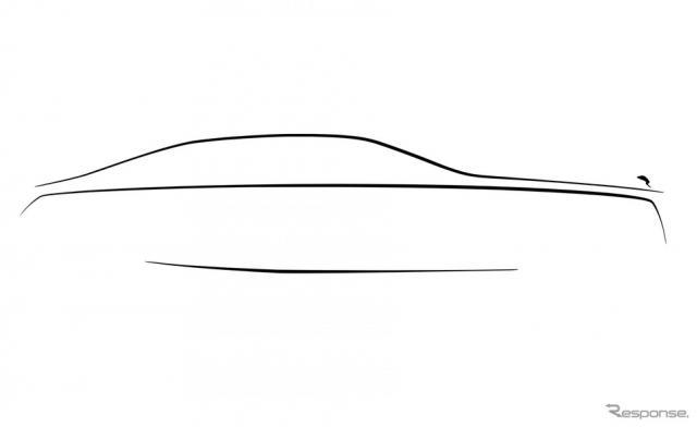 ロールスロイス・ゴースト 次期型のティザースケッチ《photo by Rolls-Royce》