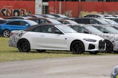 ブラックアウトされたメガ・グリル…BMW 4シリーズカブリオレ、フロントマスクが完全に見えた