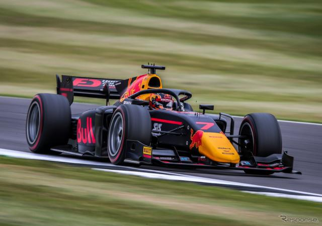 #7 角田裕毅(2020年FIA-F2第5戦シルバーストン)《写真提供 Red Bull》