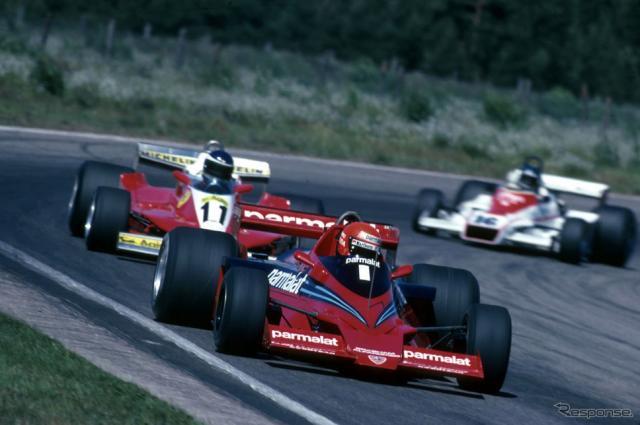 1978年F1スウェーデンGP、ニキ・ラウダのブラバムBT46Bがカルロス・ロイテマンのフェラーリ312T3をリードする。《Photo by Hoch Zwei/Corbis Sport/ゲッティイメージズ》