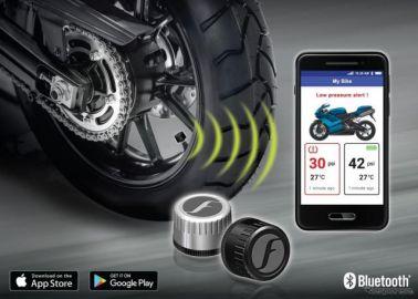 スマホでバイクのタイヤ空気圧をモニタリング 8月29日から予約販売開始