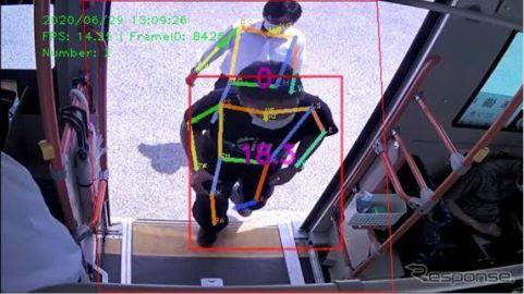 アイシン精機、中型自動運転バス実証実験に参画 転倒リスク通知システムを実装