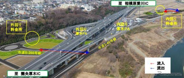 圏央道 厚木PAスマートIC、9月26日14時開通…座間市とのアクセス向上