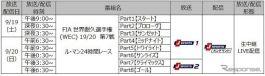 ル・マン24時間レース 放送/配信予定《画像提供 J SPORTS》