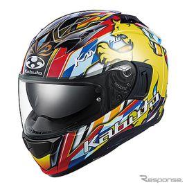 王者の風格をイメージしたヘルメット OGKがカムイ-3に「レオ」を追加
