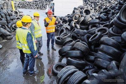 廃タイヤ由来の熱分解油から自動車部品製造へ BASF
