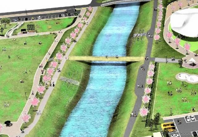 歩道橋完成のイメージ《画像提供 ヤマハ発動機》