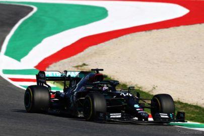 【F1 トスカーナGP】レッドブル・ホンダのアルボンが初表彰台の3位…ハミルトンとボッタスのメルセデス勢がワンツーフィニッシュ