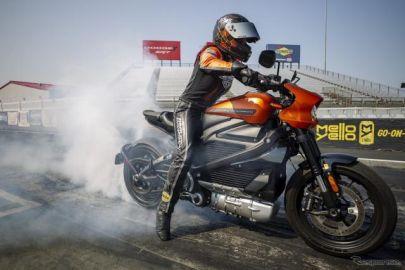 ハーレー ライブワイヤー、市販電動バイクの最速記録を樹立 ゼロヨン11.156秒